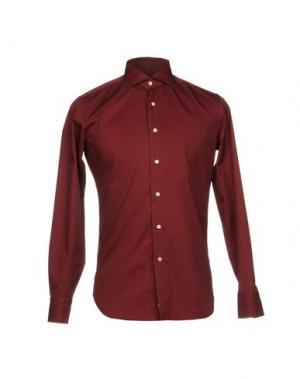 Pубашка ALESSANDRO GHERARDI. Цвет: красно-коричневый