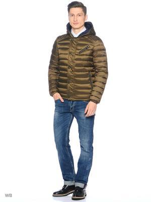 Куртка GUESS. Цвет: светло-бежевый