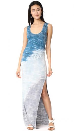 Макси-платье Joanna Young Fabulous & Broke. Цвет: бирюзовый риф