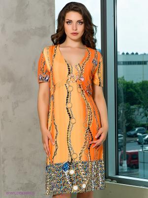 Платье Cellini. Цвет: оранжевый