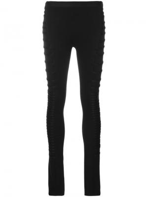 Ruched leggings Ilaria Nistri. Цвет: чёрный