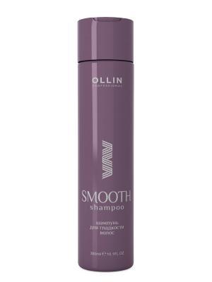 Шампунь для гладкости волос 300 мл Ollin Professional. Цвет: прозрачный