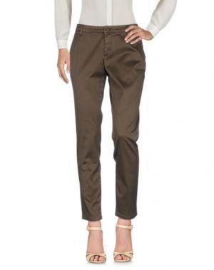 Повседневные брюки DERRIÉRE. Цвет: темно-коричневый