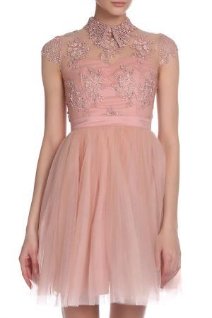 Платье CHI LONDON. Цвет: rose gold