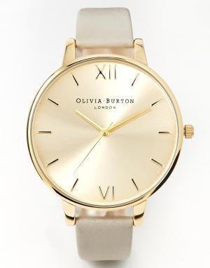Olivia Burton Массивные золотисто-серые часы. Цвет: серый