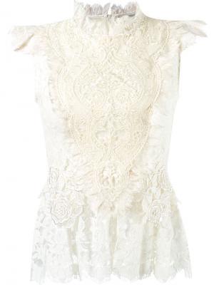 Ruffled lace blouse Martha Medeiros. Цвет: белый