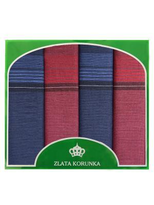 Платок носовой ZLATA KORUNKA. Цвет: бордовый, темно-синий