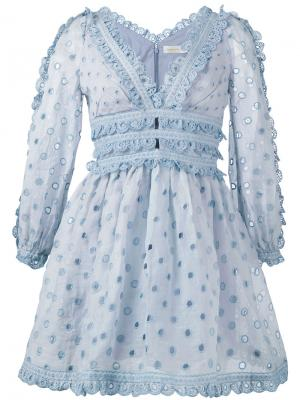 Платье Winsome Zimmermann. Цвет: синий
