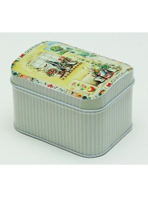 Коробка для безделушек и мелочей Любимый сад Magic Home. Цвет: серый меланж