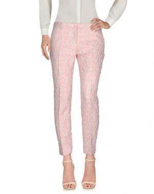 Повседневные брюки TRUE ROYAL. Цвет: розовый