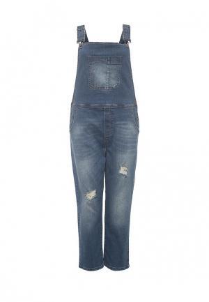 Комбинезон джинсовый Only. Цвет: синий