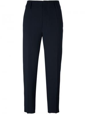 Классические укороченные брюки Forte. Цвет: чёрный