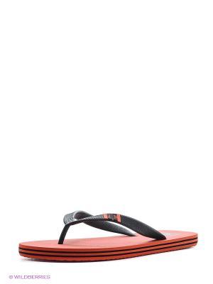 Шлепанцы SPRAY M SNDL DC Shoes. Цвет: темно-красный