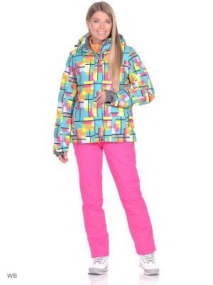 Куртка High Experience. Цвет: зеленый, розовый, желтый