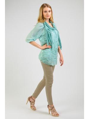 Блузка Amado Barcelona. Цвет: зеленый