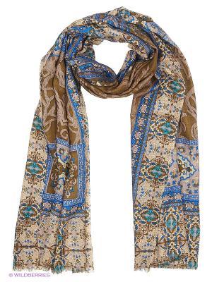 Платок Eleganzza. Цвет: темно-коричневый, темно-синий
