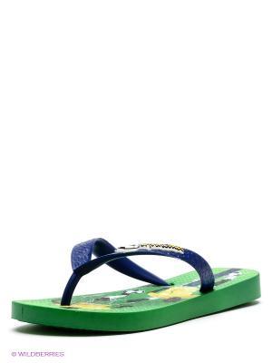 Шлепанцы Ipanema. Цвет: зеленый, желтый, синий