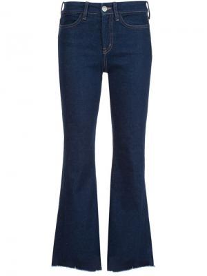 Укороченные расклешенные джинсы Lou Mih Jeans. Цвет: синий