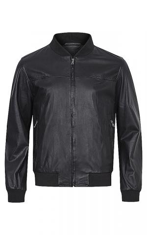 Куртка-бомбер из натуральной кожи Al Franco