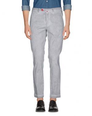 Повседневные брюки BARONI. Цвет: серый