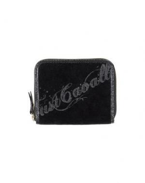 Бумажник JUST CAVALLI. Цвет: черный