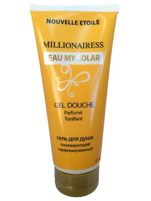 Гель для душа Миллионерша Моя Солнечная вода парфюмированный тонизирующий 200 мл Новая Заря. Цвет: желтый