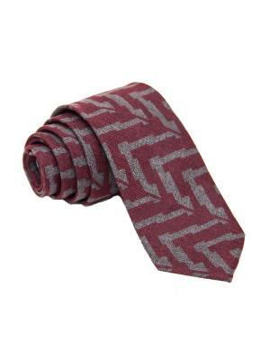 Галстук Churchill accessories. Цвет: темно-бордовый, серый, темно-красный, терракотовый, бордовый, коричневый, темно-серый, светло-серый, красный
