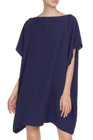 Платье с лодочкой воротником Valentino. Цвет: фиолетовый