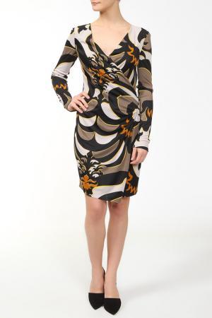 Платье Emilio Pucci. Цвет: черный, коричневый