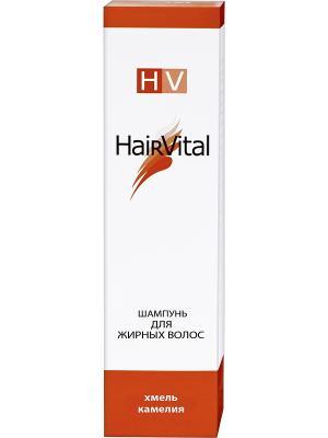 Шампунь для жирных волос 200 мл Hair Vital. Цвет: оранжевый, белый