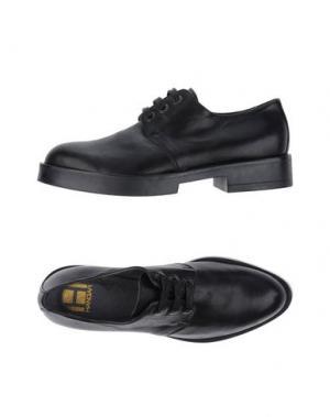 Обувь на шнурках HANGAR. Цвет: черный