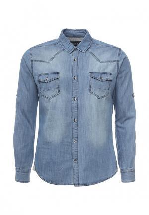 Рубашка джинсовая Frank NY. Цвет: голубой