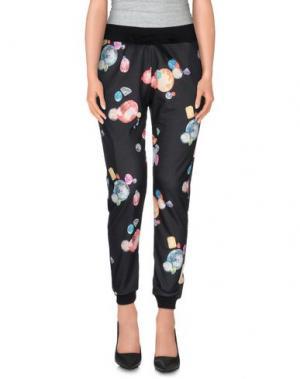 Повседневные брюки TEE-TREND. Цвет: черный