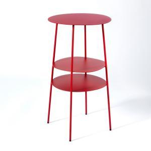 Столик прикроватный из металла красного цвета, Fractale AM.PM.. Цвет: красный