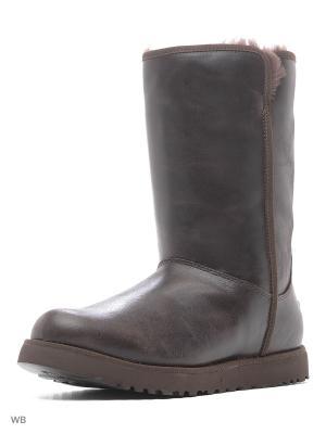 Угги женские UGG, 1014440, BLK UGG Australia. Цвет: темно-коричневый