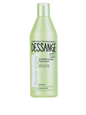 Шампунь Белая глина, для волос, жирных у корней и сухих на кончиках, 250 мл Dessange. Цвет: белый, зеленый