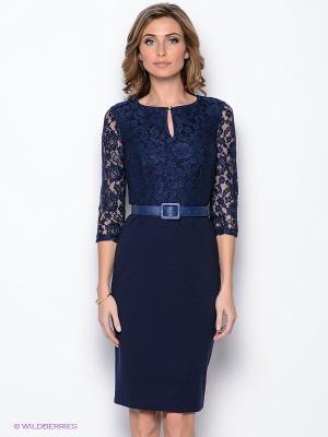 Платье Yulia Dushina. Цвет: темно-синий