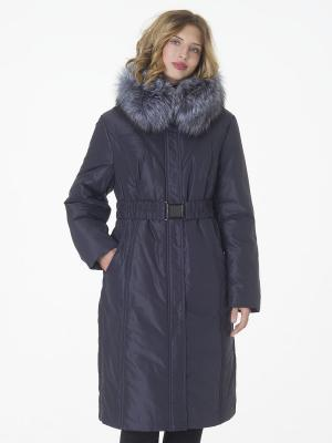Стеганое пальто Black Daffodil. Цвет: серо-голубой