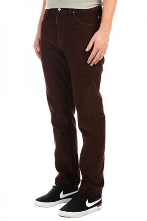 Джинсы прямые  Cordedsurfpant Chocolate Quiksilver. Цвет: коричневый