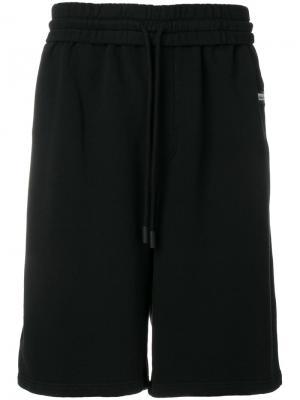 Logo oversized track shorts Off-White. Цвет: чёрный