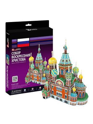 Игрушка Собор Воскресения Христова (Россия) CubicFun. Цвет: зеленый, красный, фиолетовый