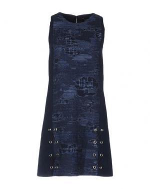 Короткое платье TESS GIBERSON. Цвет: темно-синий