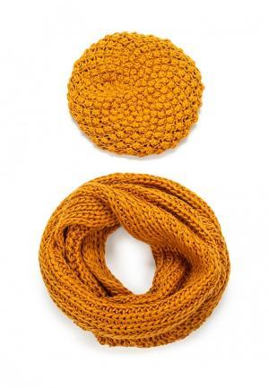 Комплект берет и шарф Avanta. Цвет: желтый