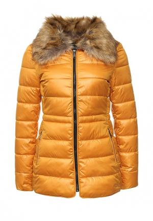 Куртка утепленная oodji. Цвет: желтый