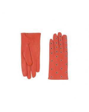 Перчатки SANDRO. Цвет: красный