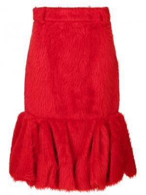Расклешенная юбка Prada. Цвет: красный