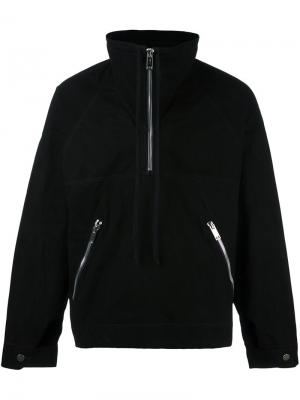High neck zipped sweatshirt 424 Fairfax. Цвет: чёрный