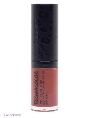 Тинт для губ и щек с пудровым эффектом SPF10, тон 6 Touch in sol. Цвет: темно-красный