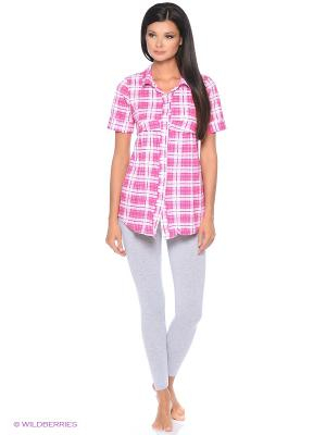 Рубашка HomeLike. Цвет: розовый
