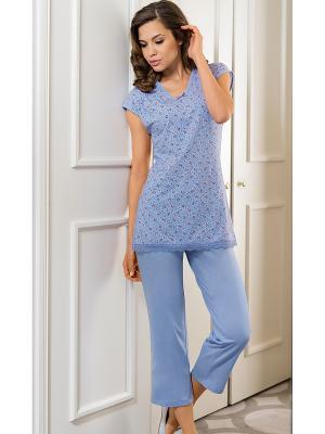 Пижама Vaide. Цвет: голубой
